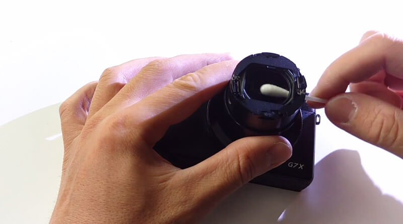 Cleaning compact camera