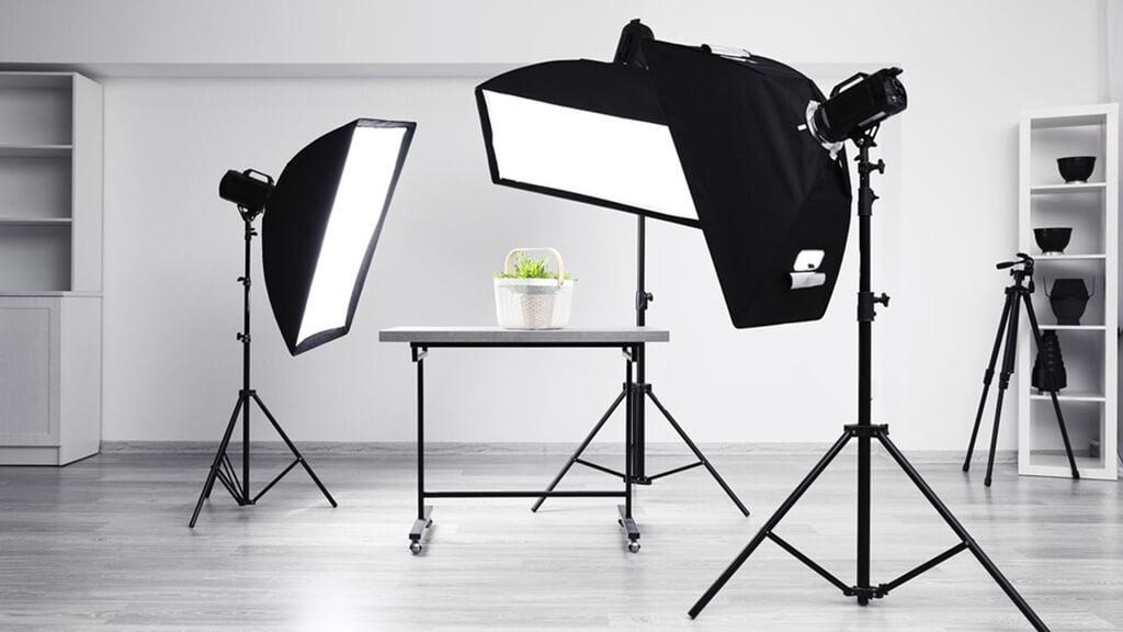 Softboxes for studio lighting
