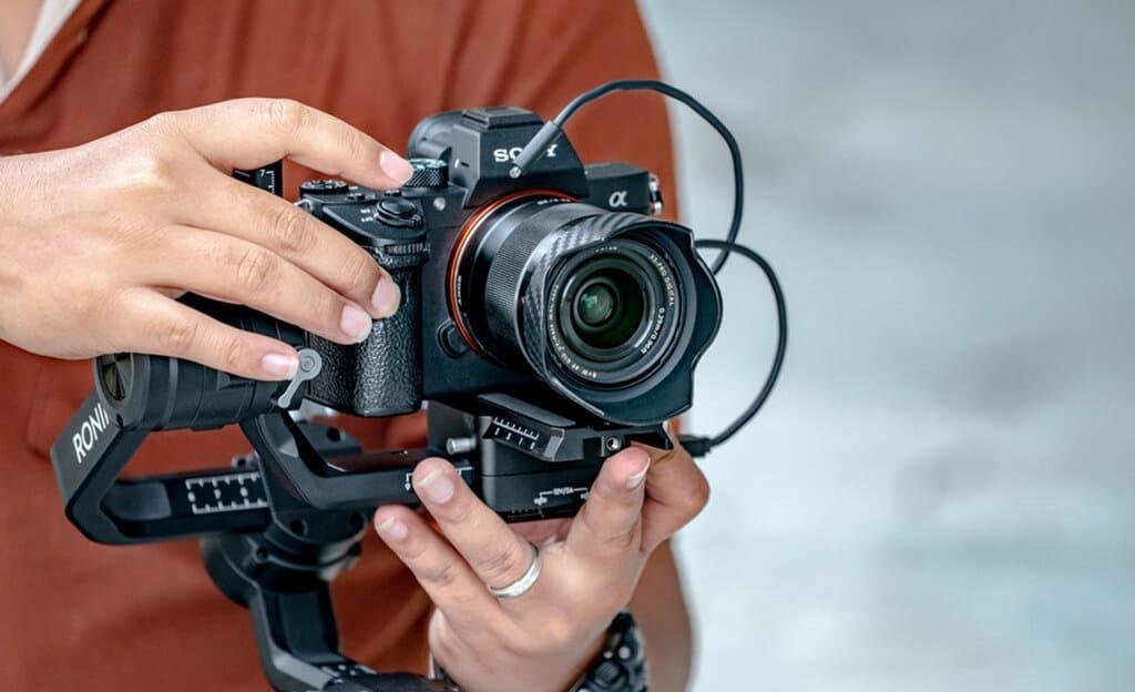 Sony alpha camera with gimbal